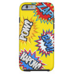 Comic Book Burst Pow 3D iPhone 6 Case