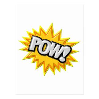 Comic Book Burst Pow 3D Post Card
