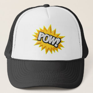 Comic Book Burst Pow 3D Trucker Hat