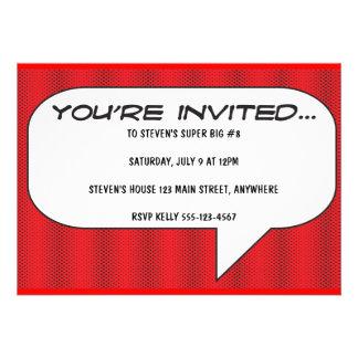 Comic book call-out invitation