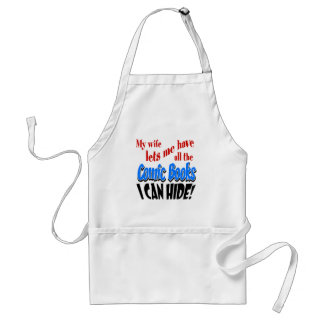 Comic Book Collecting Adult Apron