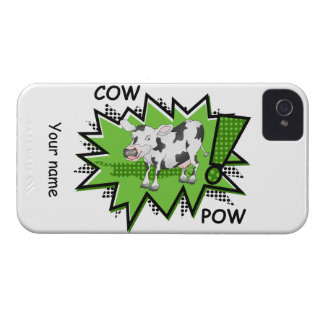 Comic book cow iPhone 4 case