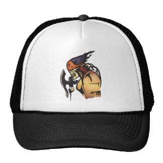 Comic Book Cyborg Skull Warrior Trucker Hat