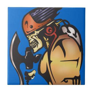 Comic Book Cyborg Skull Warrior Tiles