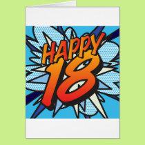 Comic Book HAPPY 18! Card
