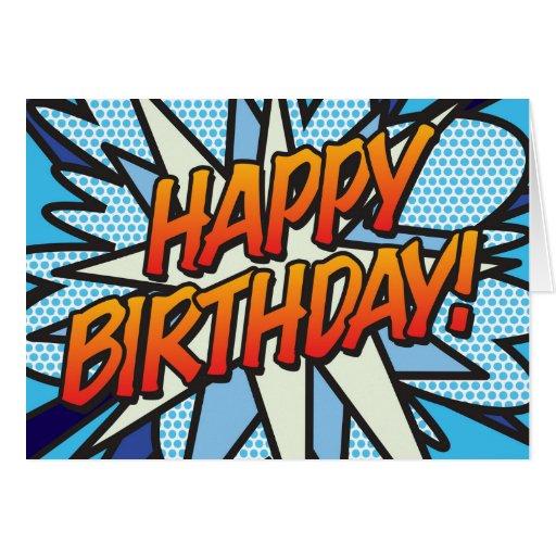 Comic Book HAPPY BIRTHDAY! Cards
