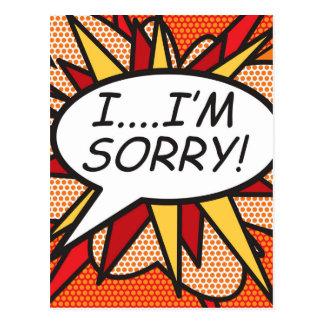 Comic Book I'M SORRY! Postcard