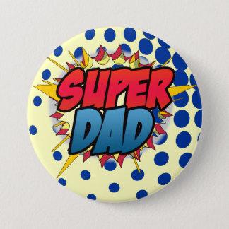Comic Book Inspired Super Dad Button