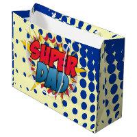 Comic Book Inspired Super Dad Large Gift Bag