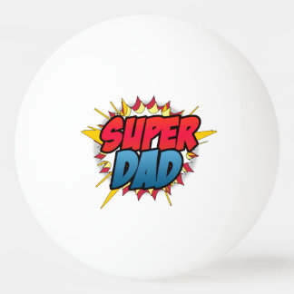 Comic Book Inspired Super Dad Ping-Pong Ball