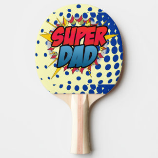 Comic Book Inspired Super Dad Ping-Pong Paddle
