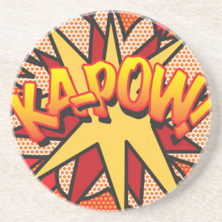 Comic Book KA-POW! Sandstone Coaster