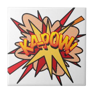 Comic Book KA-POW! Tile