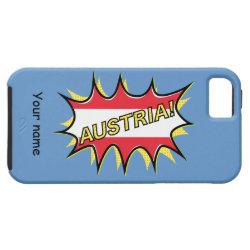 "Comic book ""kapow"" style Austrian flag iPhone 5/5S Case"