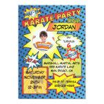 "Comic Book Karate Party Invitation 5"" X 7"" Invitation Card"