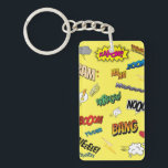 "Comic Book Keychain<br><div class=""desc"">Add a bit of color and nostalgia to your day with this comic book-inspired keychain!</div>"