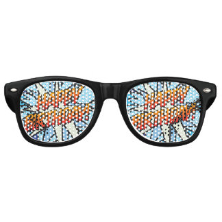 Comic Book Pop Art HAPPY BIRTHDAY party Retro Sunglasses