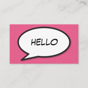 Comic business cards templates zazzle comic book pop art hello business card colourmoves