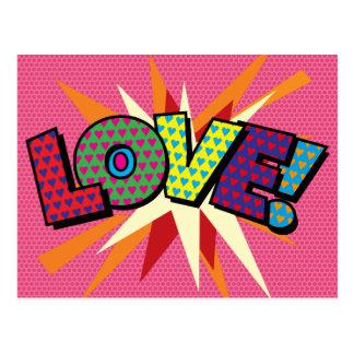 Comic Book Pop Art LOVE! Postcard