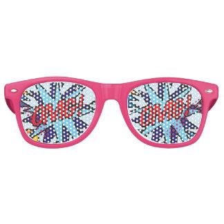 Comic Book Pop Art OMG! party sunglasses
