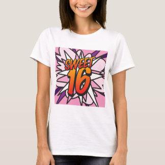 Comic Book Pop Art Pink SWEET 16 BIRTHDAY T-Shirt
