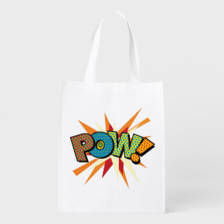 Comic Book Pop Art POW! Grocery Bag
