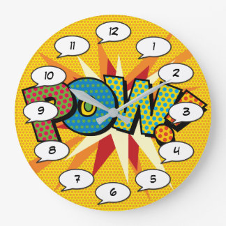 Comic Book Pop Art POW Large Clock
