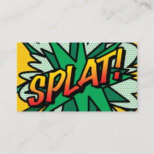 Comic Book Pop Art Splat Business Card