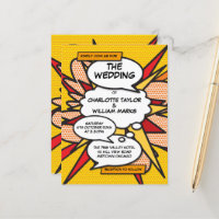 Comic Book Pop Art Wedding Invitation