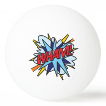 Comic Book Pop Art WHAM BANG Ping-Pong Ball