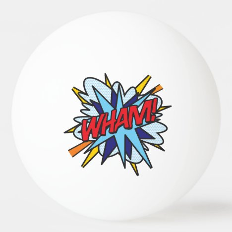 Comic Book Pop Art WHAM BANG Ping-Pong Ball