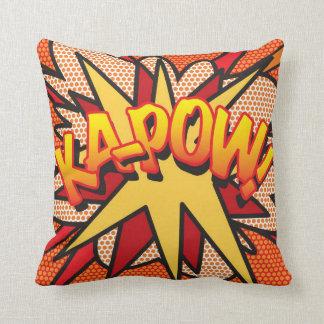 Comic Book Pop Art WHAM! KA-POW! Throw Pillow