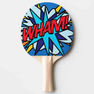 Comic Book Pop Art WHAM! Ping-Pong Paddle
