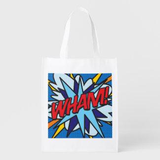 Comic Book Pop Art WHAM! POW! Grocery Bag