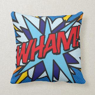 Comic Book Pop Art WHAM! ZAP! Throw Pillow