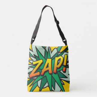 Comic Book Pop Art ZAP! POW! Crossbody Bag