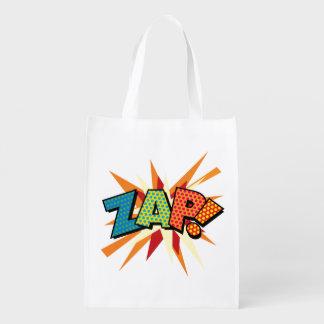 Comic Book Pop Art ZAP! POW! Reusable Grocery Bag