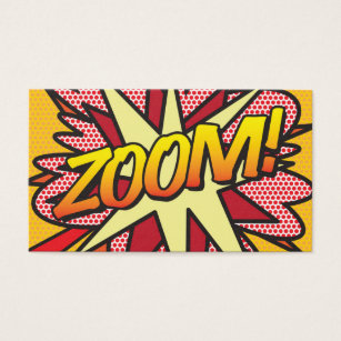 Comic book business cards templates zazzle comic book pop art zoom business card colourmoves