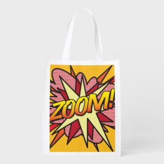 Comic Book Pop Art ZOOM! Grocery Bag