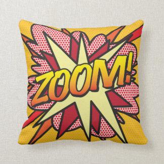 Comic Book Pop Art ZOOM! Throw Pillow