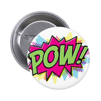 Comic Book Pow! Art Design Pinback Button