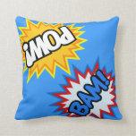Comic Book Pow! Burst Pillow
