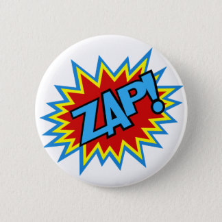 Comic Book Pow! Burst Pinback Button