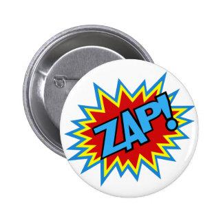 Comic Book Pow! Burst Pinback Button