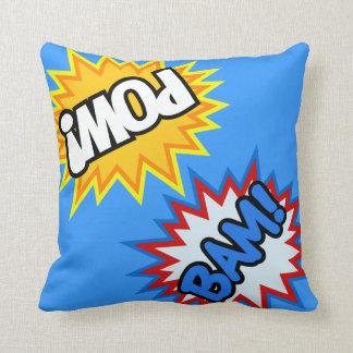 Comic Book Pow! Burst Throw Pillow