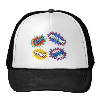 Comic Book Pow! Bursts Trucker Hat