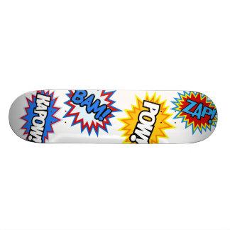 Comic Book Pow! Bursts Skate Boards