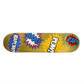 Comic Book Pow! Bursts Skateboard Deck
