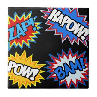 Comic Book Pow! Bursts Tile