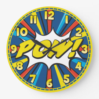 Comic Book POW! Decorative Wall Clock